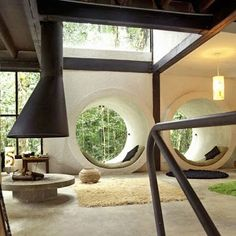 West Elm - Google+ - DREAM HOUSE OF THE DAY: Round window in a modern Brazilian…