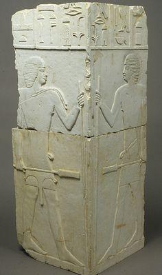 Corner of niche from the tomb of Akhtihotep,  Dynasty 4,  2575–2551 BC,  Saqqara