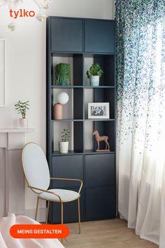 Scandinavian Style Home, Boho Living Room, Design Moderne, Particle Board, Repurposed Furniture, Furniture Making, Bookcase, Furniture Design, Room Decor