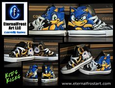 fan art converse | Custom Converse - Sonic the Hedgehog by EternalFrostArt