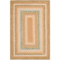 Safavieh Braided Tan/Multi 2 ft. 6 in. x 4 ft. Area Rug - BRD314A-24 - The Home Depot