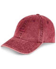 Levi s Men s Twill Enzyme Washed Baseball Cap - Red Wash Baseball Cap f05541934832