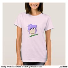 Cartoon T Shirts, Made Goods, Young Women, Wardrobe Staples, Fitness Models, Cool Designs, Best Gifts, Gift Ideas, T Shirts For Women