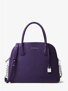 Mercer Large Leather Dome Satchel - the Iris is such a beautiful purple  color! Leather 5bc8580d9762f