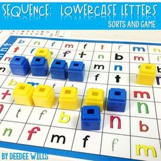 Sequence Game Sets and Sorts for lowercase letters.  Student practice pages, parent homework option and more!  Great for centers or your small group word work.
