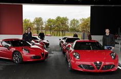 The first European Alfa Romeo 4C 'Launch Edition' units are delivered at Balocco