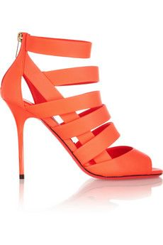 Jimmy Choo Damsen neon matte-leather sandals   NET-A-PORTER Get it here:http://rstyle.me/n/e4jpxwx26