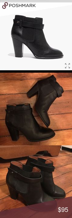"""Madewell Lonny boot Black Madewell """"Lonny"""" boot. No longer made. Size 9. Only worn a few times. Madewell Shoes Ankle Boots & Booties"""