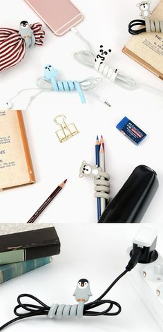 Don't stress because of tangling earphones or charging cords, the cute and lovely Animal Cable Organizer will help you easily organize your cables and protect them safely.