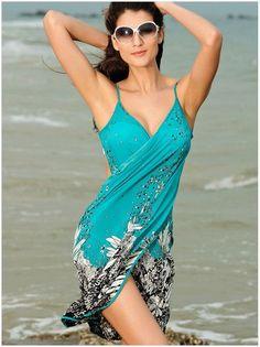 Summer Style Multi Wear Sexy Beach Skirt Swimsuits Print Apron Swimwear Bathing Suit One Piece Swimsuit Trajes De Bano