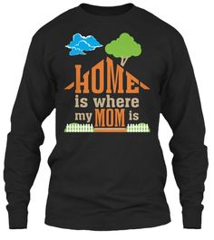 Mother's Day T Shirts | Mom T Shirt Black Long Sleeve T-Shirt Front