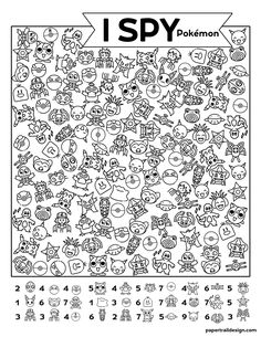 Use our free printable Pokémon I spy activity page to keep kids busy so you can get some quiet time. Educational Websites, Educational Activities, Preschool Activities, Activity Sheets For Kids, Pokemon Birthday, Hidden Pictures, Paper Trail, I Spy, Worksheets For Kids