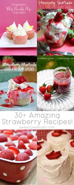 30+ Amazing Strawberry Recipes at Sweet Rose Studio