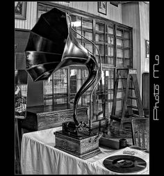phonograph from Thomas Edison Museum at Menlo Park.