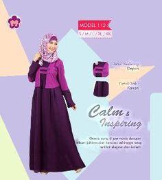 Baju Gamis Mutif Model 113 Ungu Purple best Seller