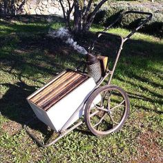 This is ingenius... a deer hauler for the bees....yes plz