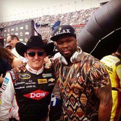Austin Dillon & 50 Cents at Daytona 500 Nascar Sprint Cup, Nascar Racing, Austin Dillon, Daytona 500, Checkered Flag, Captain Hat, Boys, Sports, Baby Boys