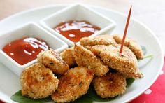 Nuggets caseiros (e saudáveis) assados