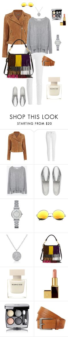 """""""camel suede biker jacket"""" by ulusia-1 ❤ liked on Polyvore featuring Oasis, Paige Denim, Zara, FitFlop, Emporio Armani, Yves Saint Laurent, Narciso Rodriguez, Tom Ford, Chanel and Billabong"""