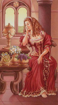 4 de coupes - Tarot déesse universelle par Antonella Platano & Maria Caratti