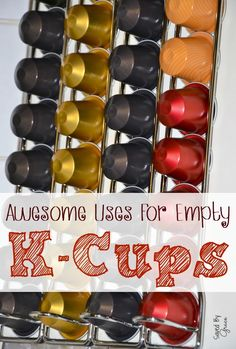 If you have a Keurig coffee maker, you may have k cups going in the trash on a regular basis, but here are some uses for empty k cups that might surprise you!