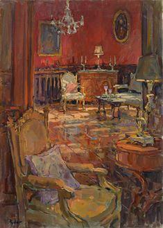 Susan Ryder RP NEAC (b.1944) — Floor Reflections (619x875)