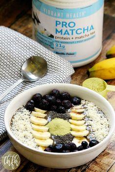 Pro Matcha Banana Avocado Smoothie Bowl | The Healthy Family and Home