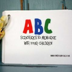 The 'Green' Version of the ABC Printable Scripture Cards - I Can Teach My Child!