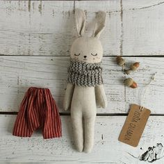 Bunny doll organic stuffed animal rag doll rabbit doll eco toy textile doll linen doll gift for kids organic toy baby room doll Handmade Stuffed Animals, Sewing Stuffed Animals, Stuffed Toys Patterns, Sock Stuffed Animals, Bunny Toys, Sock Bunny, Fabric Toys, Sewing Toys, Animal Crafts
