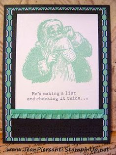 Pool Party Santa - Christmas Card - Beauty and the Stamper - Jean Piersanti