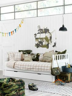Military themed boy bedroom