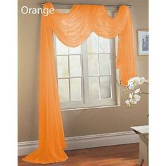 Window scarf... This is what I want in my bathroom but not the color