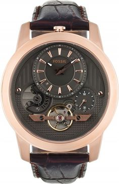 Fossil Watches, Men's Grant Twist Leather Watch Brown #ME1114