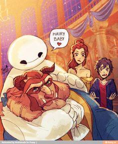 Baymax | Hiro Hamada | Beauty and the Beast | Big Hero 6