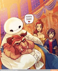 Baymax | Hiro Hamada | Beauty and the Beast | Big Hero 6