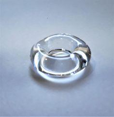 Handmade Glass 'Hoop' bead by bdenglass on Etsy