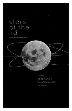 Stars of The Lid Andy Warhol Museum, Moon River, Owl City, Music Like, Art History, Posters, Design, Poster