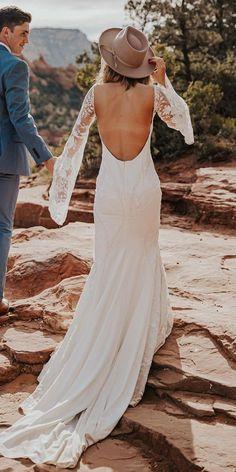33 Rustic Wedding Dresses For Inspiration ❤ rustic wedding dresses sheath low back with long sleeves loversxsociety #weddingforward #wedding #bride Rustic Wedding Dresses, Lace Wedding, Long Sleeve, Sleeves, Inspiration, Fashion, Biblical Inspiration, Moda, Full Sleeves