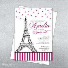 Paris eiffel tower 21st birthday invitation by littlepprintables paris birthday invitation parisian birthday eiffel tower invitation eiffel tower paris invitation on etsy 1500 filmwisefo