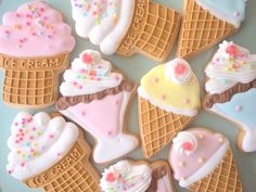 ice cream sugar cookies! #kawaii