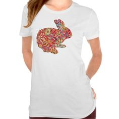 Colorful Floral Silhouette Easter Bunny Shirt http://www.zazzle.com/colorful_floral_silhouette_easter_bunny_shirt-235416995200601711?rf=238271513374472230   #easter