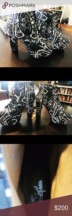Jeffery Campbell & BlackMilk Litas Super rare!!!  Worn once, perfect condition. Jeffrey Campbell Shoes Heeled Boots