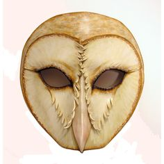 Barn Owl Leather Mask- ok, I think I can make this now!