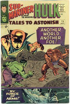 Vintage Tales to Astonish Sub-Mariner And Hulk Marvel Comic,Vintage Silver Age Marvel Comicbook,Marvel Comics Tales to Astonish,Hulk by on Etsy Marvel Comics Superheroes, Hq Marvel, Marvel Comic Books, Comic Books Art, Comic Art, Book Art, Marvel Heroes, Marvel Characters, Cartoon Characters