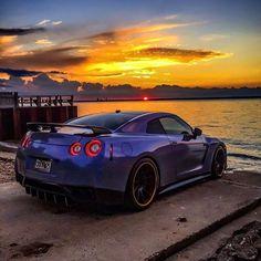 Nissan GTR enjoying the sunset. Gtr Nismo, Nissan Gtr R35, Nissan Gtr Skyline, Maserati, Lamborghini, Ferrari, G Wagon, Mercedes Benz G, Dodge