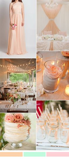 peach wedding color ideas and bridesmaid dresses ideas for spring summer wedding 2016