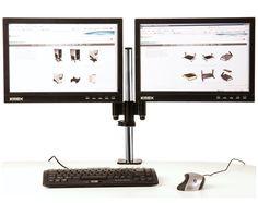 Suporte 893-D O Suporte 893 D foi elaborado para fixar dois monitores. Possui sistema de ajuste de altura milimétrico deslizante com travamento quick release que possibilita a postura correta do usuário. Dotado de quatro articulações e giros de 360º em cada braço, movimentos lineares de aproximação e afastamento,  proporciona ganho de espaço físico e flexibilidade. O design contemporâneo harmoniza com os monitores modernos e otimiza o espaço de sua área de trabalho maximizando seu…