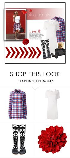 """""""Ashley Tisdale : steal her style"""" by royal-fashian ❤ liked on Polyvore featuring Hedi Slimane, Lands' End, Raquel Allegra, Stuart Weitzman, Louis Vuitton and Illesteva"""