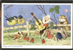 10619575 Baumgarten Fritz Fritz Baumgarten Singe wem Gesang gegeben o 1930 Kuens in Sammeln & Seltenes, Ansichtskarten, Motive | eBay