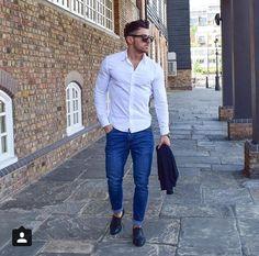 Love crisp white shirts.